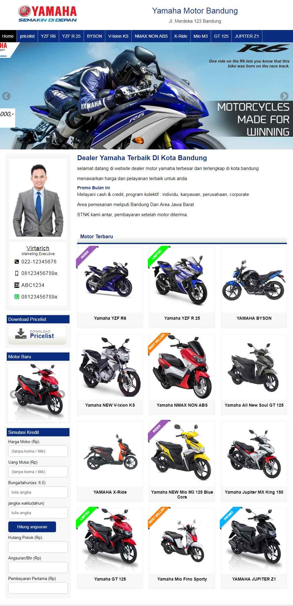 Jasa Web Showroom Motor
