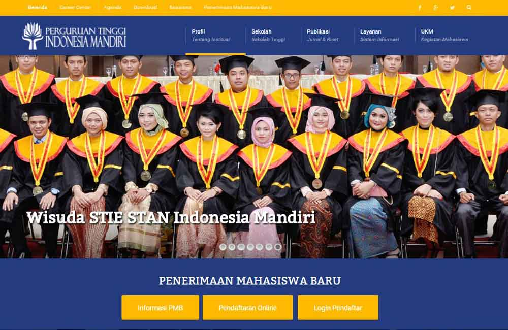 jasa website universitas