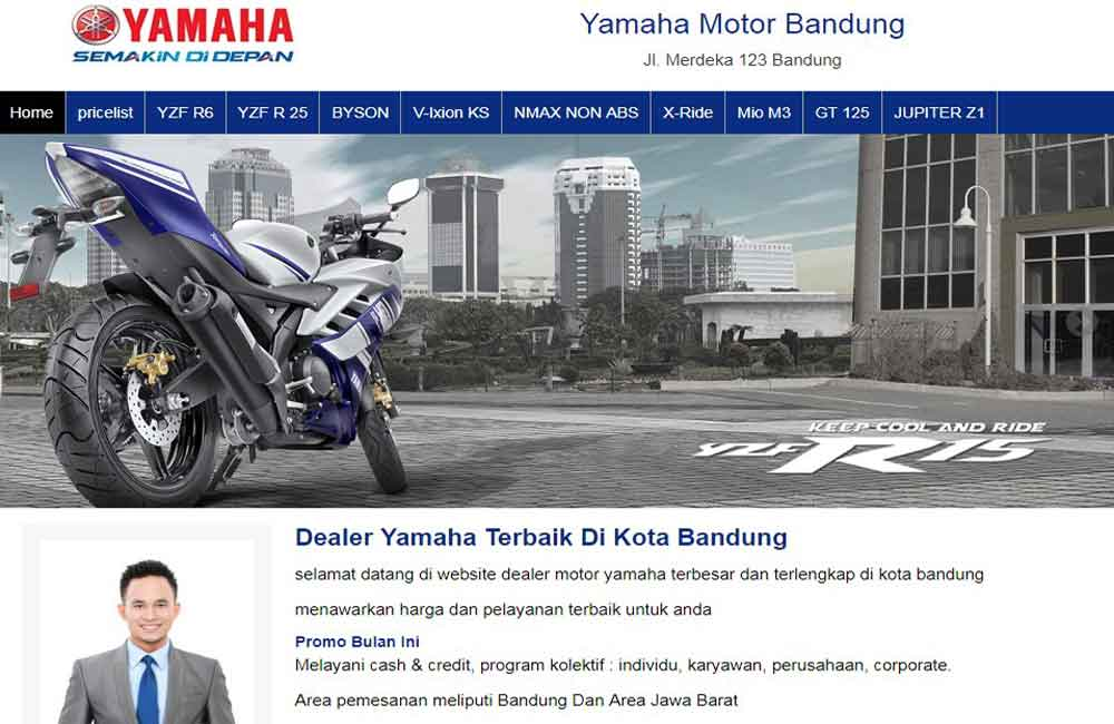 jasa website showroom motor