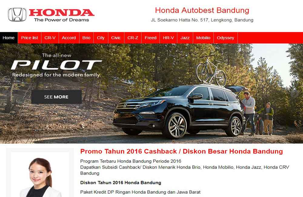 jasa website showroom mobil