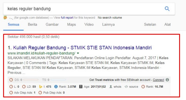 Kelas Reguler Bandung