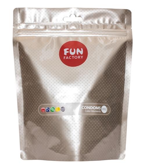 Fun Factory – Condoms Color Moments – 50 kpl Maku- ja Värikondomeja