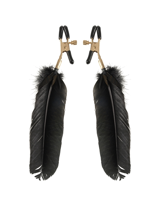 Fetish Fantasy Gold Feather Nipple Clamps - Brystvorteklemmer