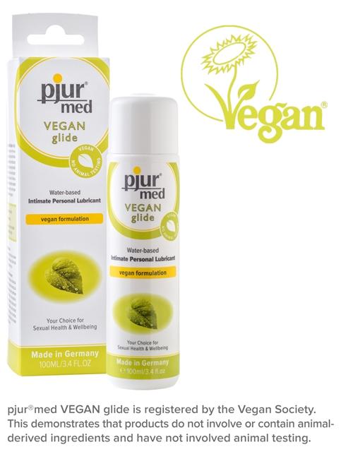 100 ml pjur MED Vegan glide – Vesipohjainen Vegaaniliukuvoide