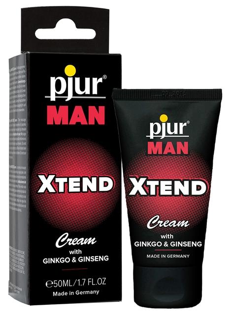 50 ml pjur MAN Xtend Cream - Ginkgo/ginseng til intim hudpleje til mænd