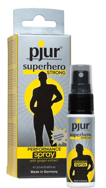 20 ml pjur Superhero Strong Spray – Kestä Entistäkin Pidempään