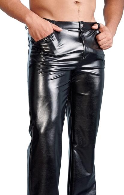 Svenjoyment - Men´s Imitation Leather Trousers - Byxor i läderimitation