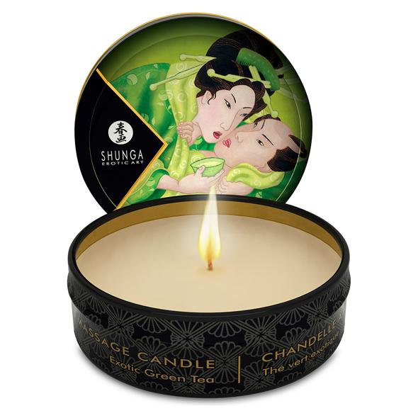 Shunga – Hierontakynttilä – Vihreä Tee 30 ml