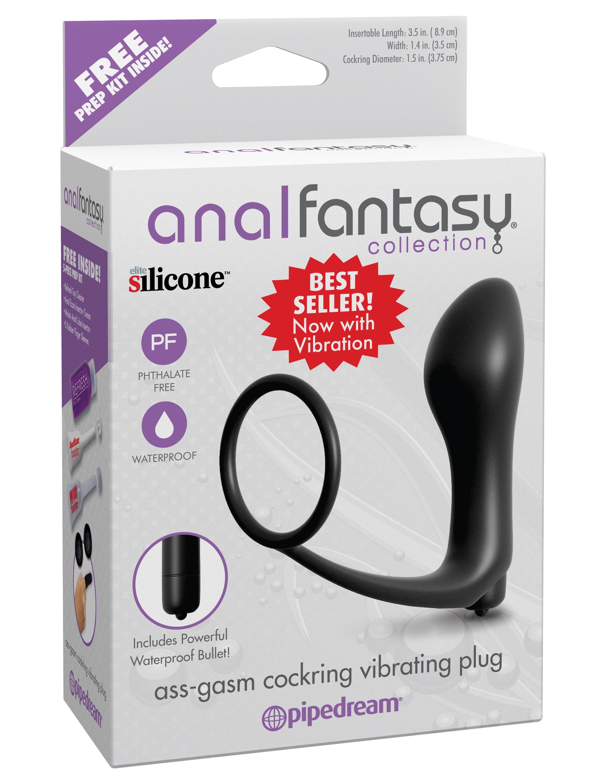 Anal Fantasy Collection Ass-Gasm Cockring Vibrating Plug