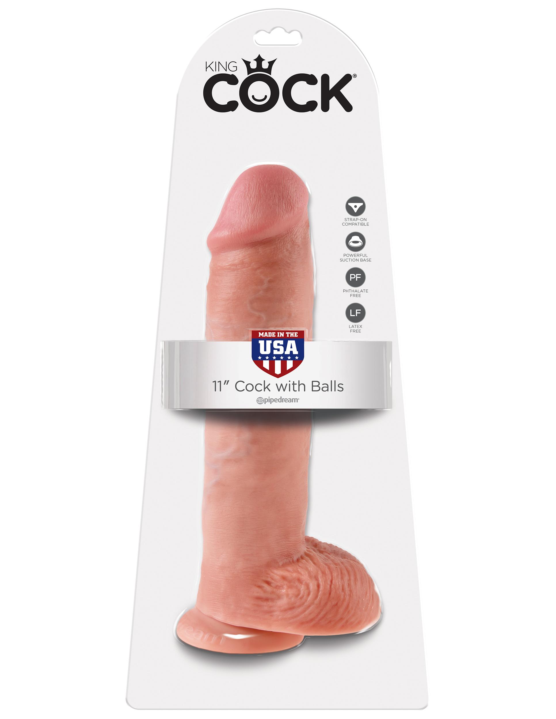 King Cock© - 28 cm. penis med pung (11