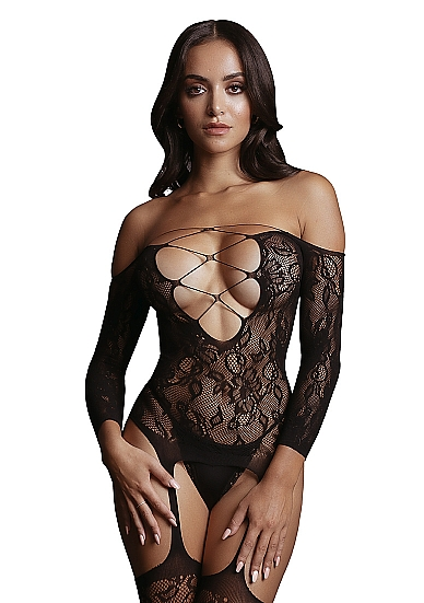 LE DÉSIR Criss Cross Neck Bodystocking