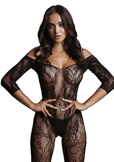 LE DÉSIR Lace Sleeved Bodystocking