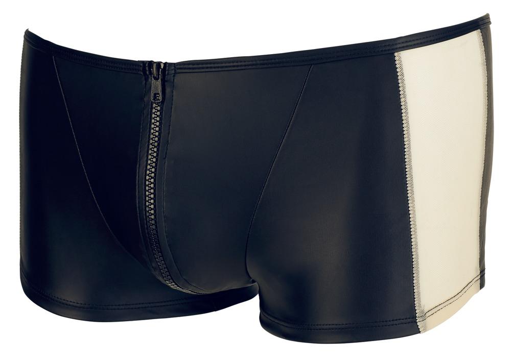 Svenjoyment - Pants med lynlås i sort/hvid
