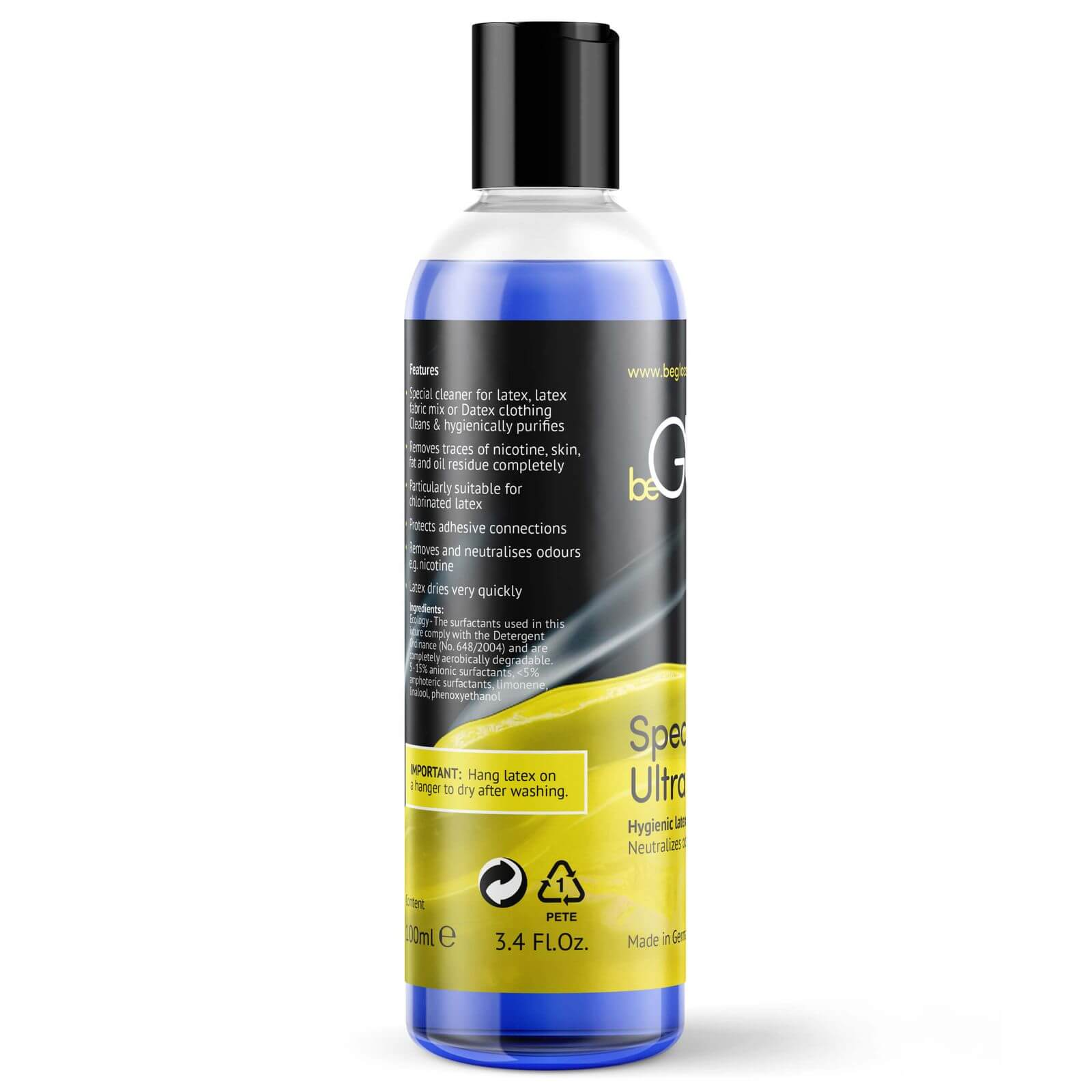beGLOSS SPECIAL WASH Ultra Clean til Latex & Gummi 100 ml