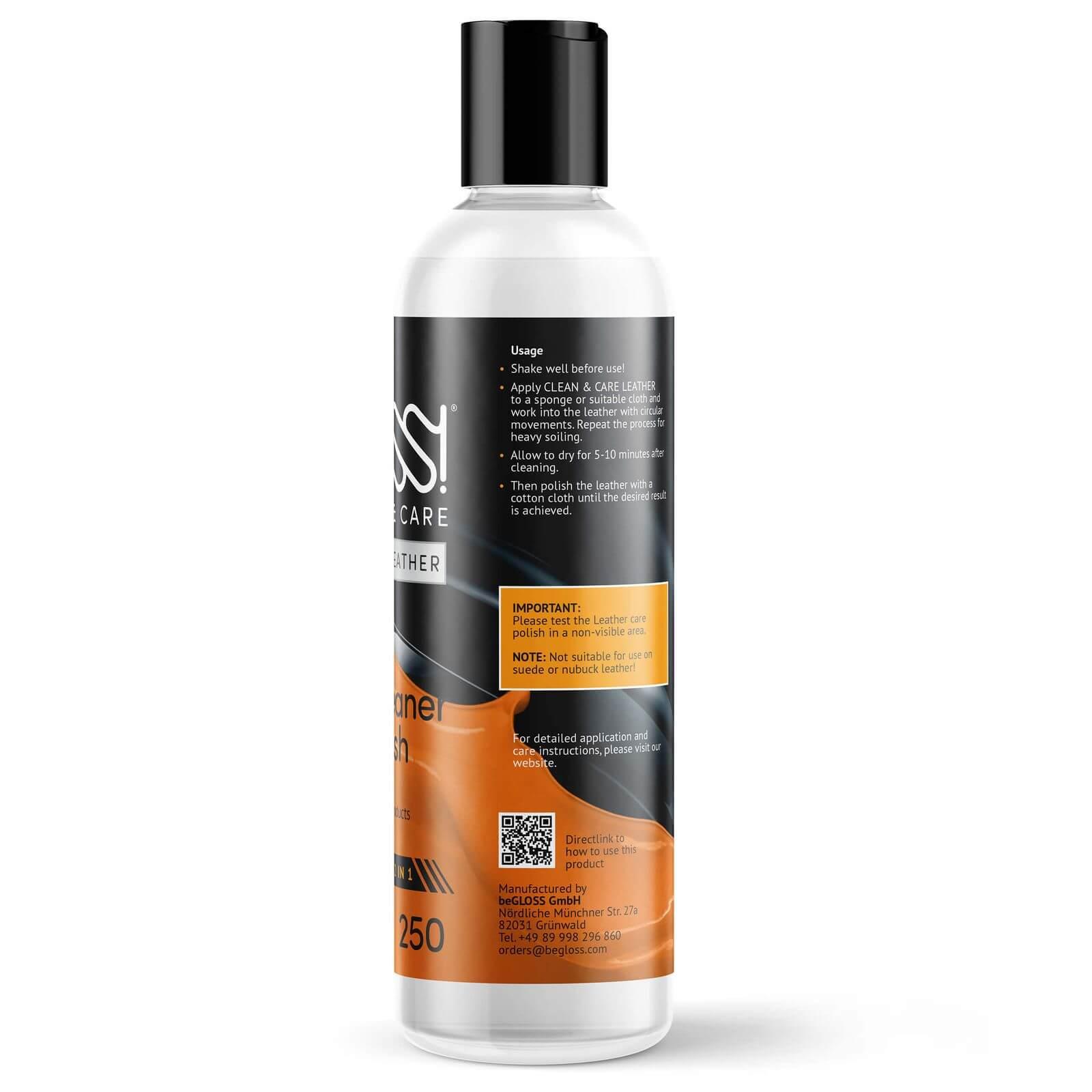 beGLOSS CLEAN & CARE Læderrengøring og - pleje 250 ml