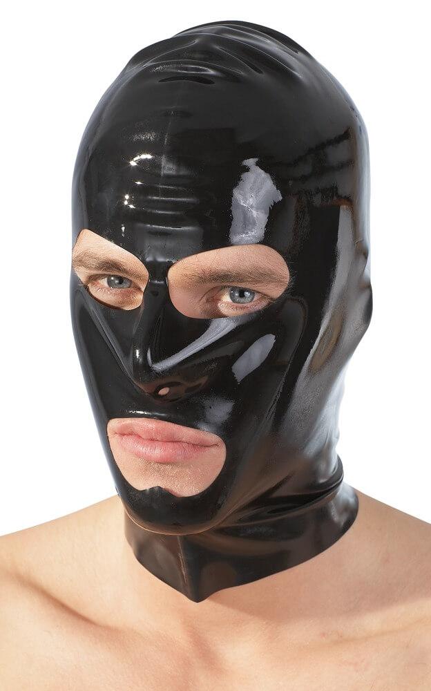 Late X - Latex Mask Musta