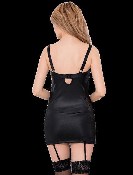 by LUANA - CALIGULA Ciré Läder Dress Med Trosor (R7859|M|S)