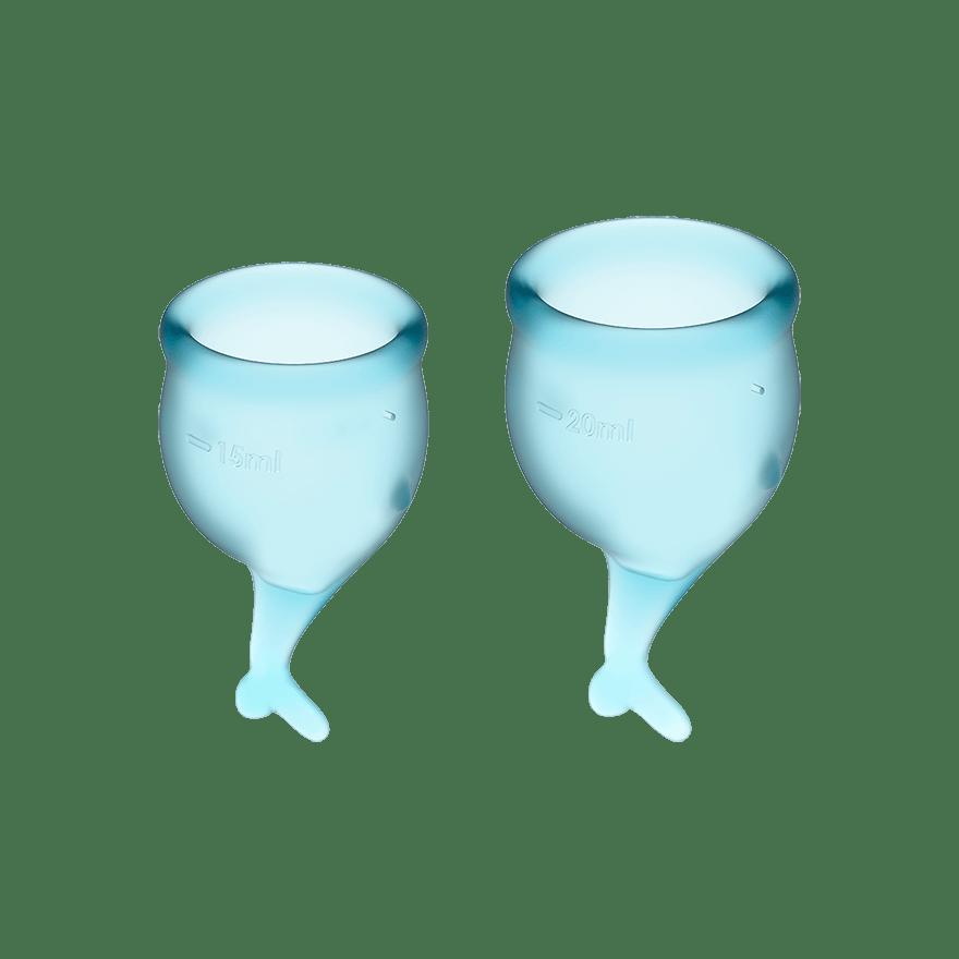 Satisfyer Feel Secure Menstruationskop Light Blue
