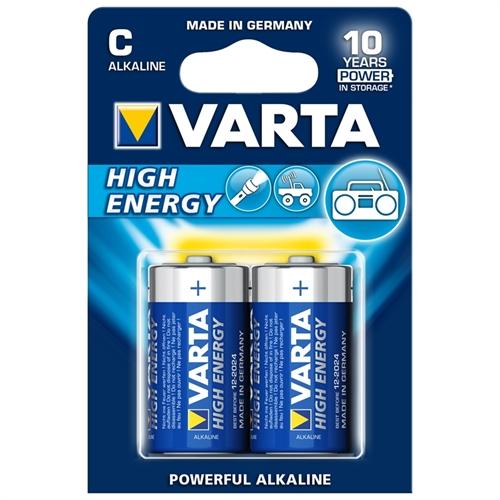 2 kpl VARTA C/LR14 High Energy