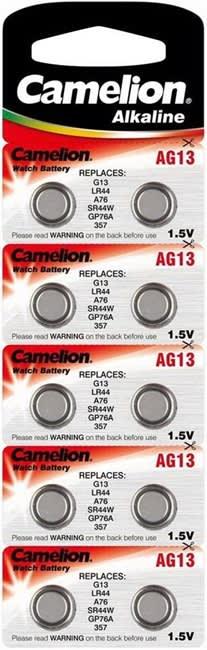 10 kpl Camelion LR44/AG13 – Alkaliparistot (1.5V)