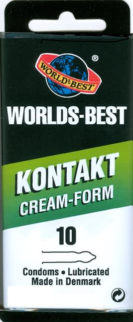 10 stk. LARGE - Kontakt Cream-Form - med creme
