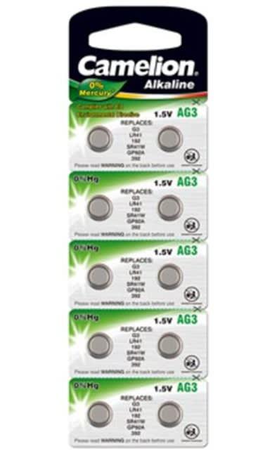 10 stk. LR41/AG3 - Camelion - Alkaline