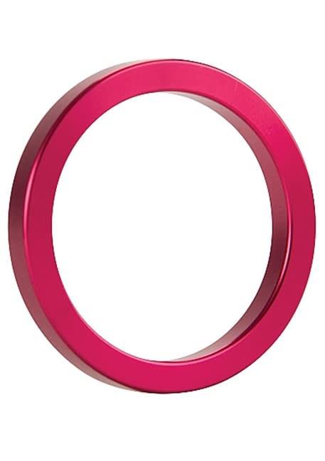 Ouch! - Metal penisring Pink (størrelse M)