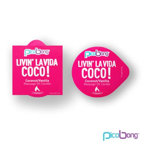 LELO PicoBong - Kokosnød/vanilje massageolie lys
