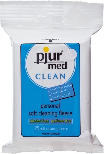 pjur med CLEAN Fleece (á 25 pcs.) - Rengøringsservietter til intimbrug