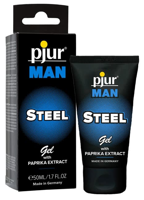 Image of   50 ml pjur MAN Steel Gel - Gel med paprika til intim- og kropsmassage