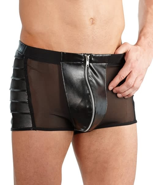 Svenjoyment - Imitation Leather Pants - Rå boxers i læderlook