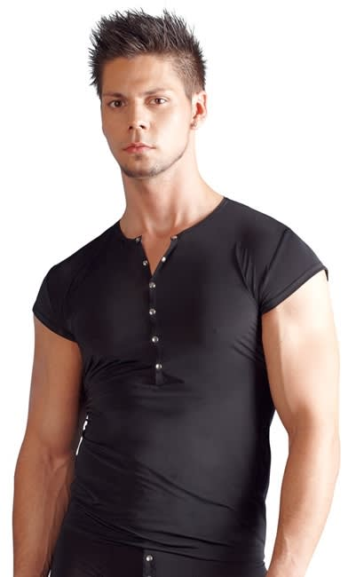 Svenjoyment - Shirt - T-shirt med knapper foran