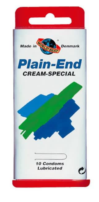 Image of   10 stk. MEDIUM - Plain-End Creme-Special - med creme/uden reservoir