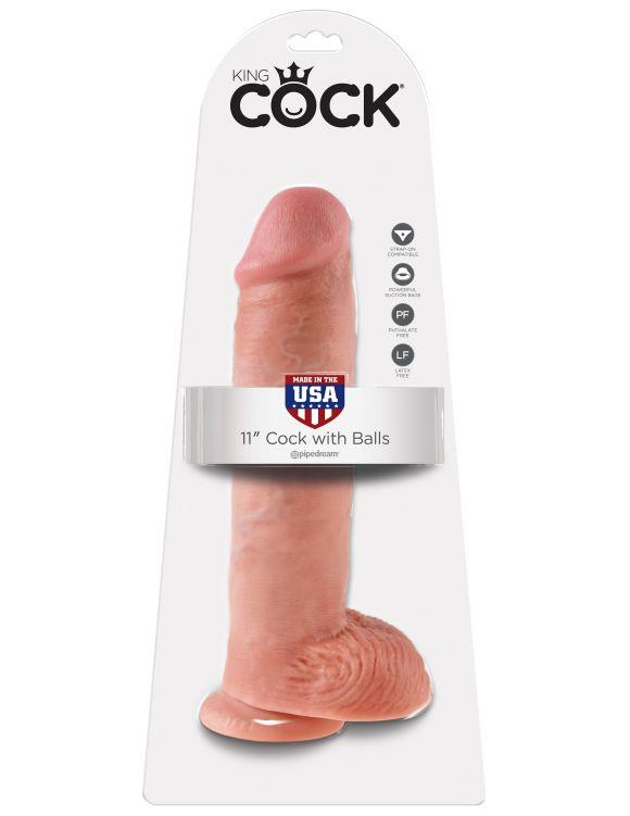 """King Cock© - 28 cm. penis med pung (11"""")"""