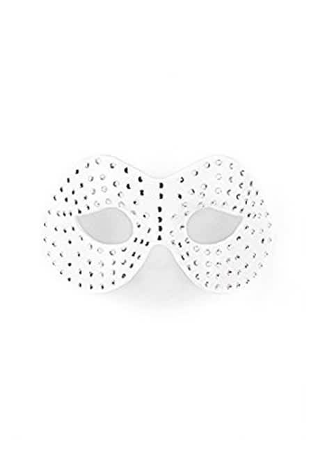 Ouch! - Ouch! Diamantbesat maske - Hvid