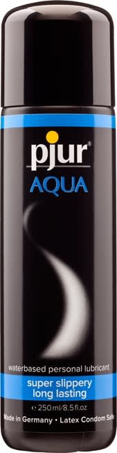 250 ml pjur Aqua - Vandbaseret glidecreme til kondomer og sexlegetøj