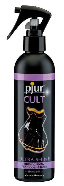 250 ml pjur Cult Ultra Shine - Till latex, gummi och läderkläder