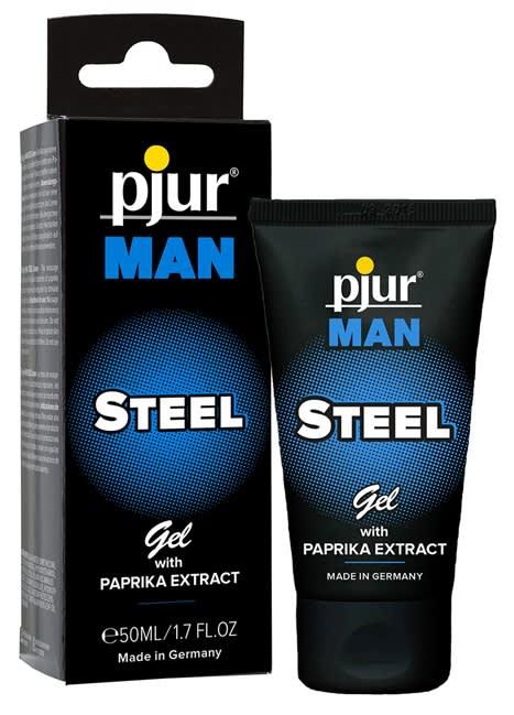 50 ml pjur MAN Steel Gel - Gel med paprika til intim- og kropsmassage