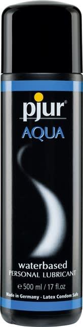 500 ml pjur Aqua - Vandbaseret glidecreme til kondomer og sexlegetøj