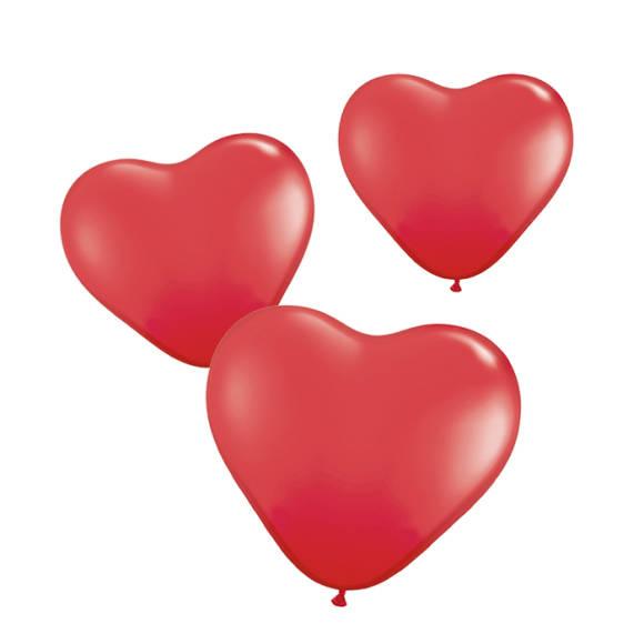 6 st. romantiska hjärtformade ballonger