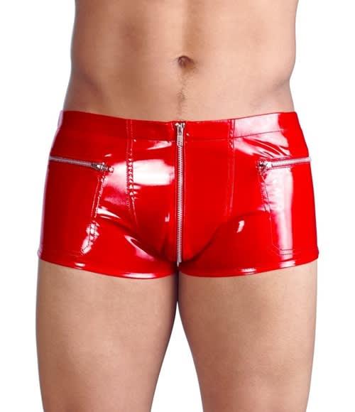 Black Level – Pants – Punaiset Vinyylishortsit