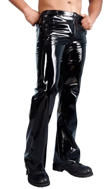 Black Level - Vinyl Pants for him - Glimmande binylbyxor