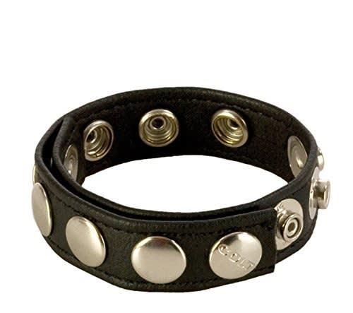 COLT® 8 Snap Fastener Leather Strap – Käsin Ommeltua Laadukasta Nahkaa – 23x2 cm