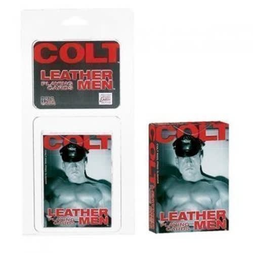 COLT® Leather Men Playing Cards - Spillekort med mænd i læder