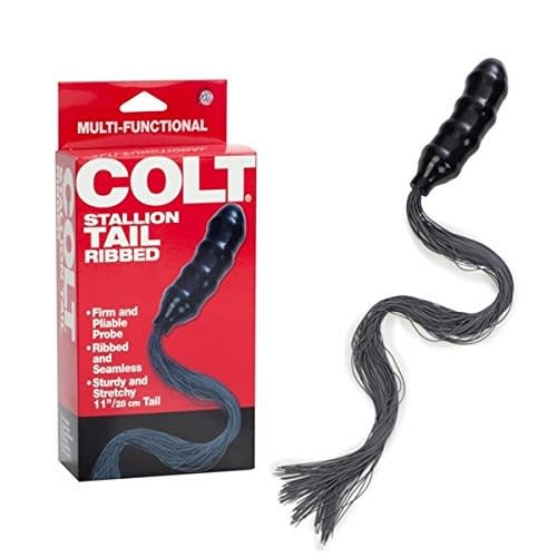 COLT® Stallion Tail - 2-i-1 legetøj med ribbet analdildo og pisk