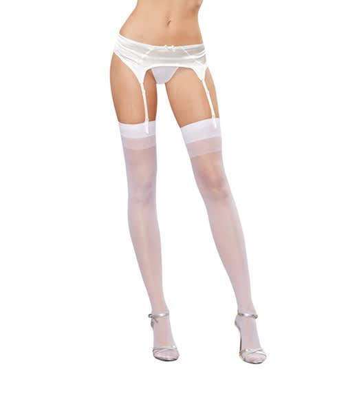 Dreamgirl - Moulin - Strømper til hofteholder - Style 0007 - Hvid