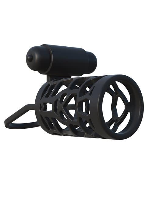 Fantasy C-Ringz Thick Dick Silicone - Vibrerende kyskhetsbur