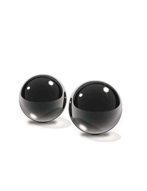 Fetish Fantasy Series Limited Edition - Medium sorte glass Ben-Wa Balls