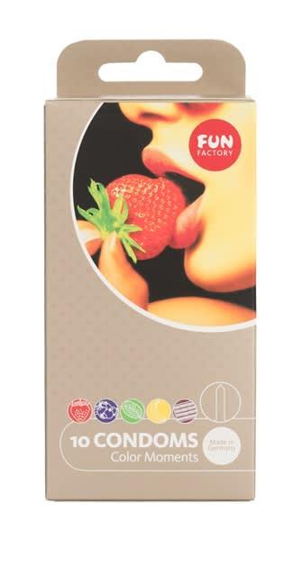 Fun Factory - Kondome Color Moments 10er - 10 stk. med farve og smag