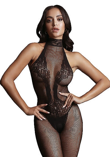 LE DÉSIR Fishnet and Lace Bodystocking